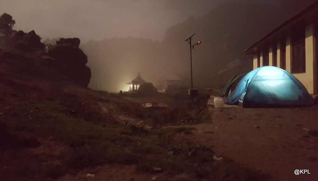 camping at serolsar lake